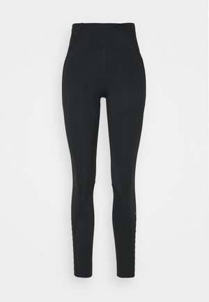 ONE LUX 7/8 LACING - Tights - black