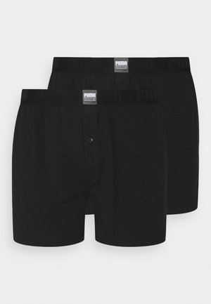 MEN LOOSE 2 PACK - Boxer shorts - black