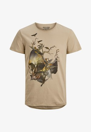 JORCLAUS TEE CREW NECK - Print T-shirt - crockery