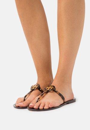 MINI MILLER FLAT THONG - T-bar sandals - tortoise