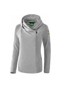 Erima - ESSENTIAL HOODY JACKET - Zip-up hoodie - hellgrau / lime - 1