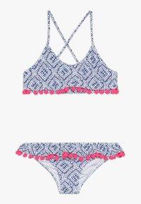 Sunuva - GIRLS SHIBORI POM POM FRILL - Bikini - blau - 0