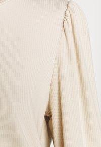 Object - OBJJAMIE BALLON SLEEVE - Džemperis - sandshell - 5