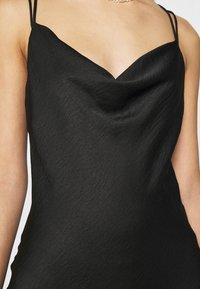 Vero Moda - VMCENTURY OPEN BACK DRESS - Společenské šaty - black - 6