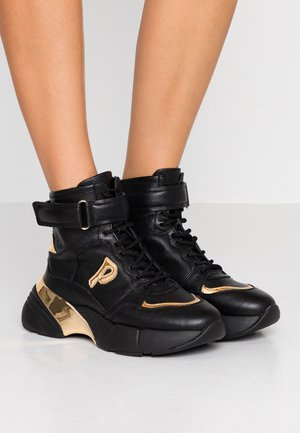 LUGANO - High-top trainers - nero/oro