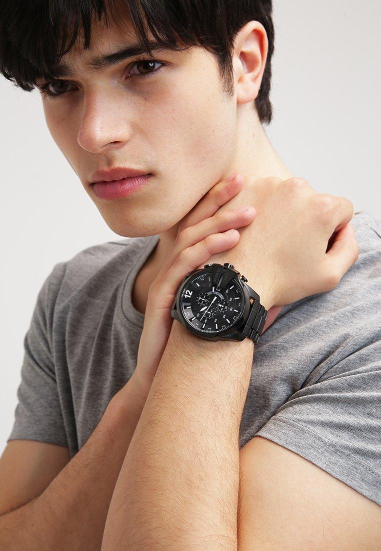Diesel - MEGA CHIEF - Chronograph watch - schwarz