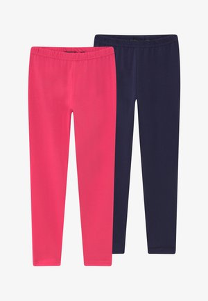2 PACK - Leggings - Trousers - pink/blau