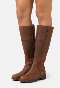 Timberland - GRACEYN TALL SIDE ZIP WP - Boots - rust - 0