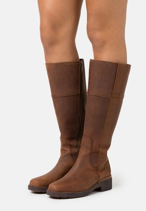 GRACEYN TALL SIDE ZIP WP - Boots - rust