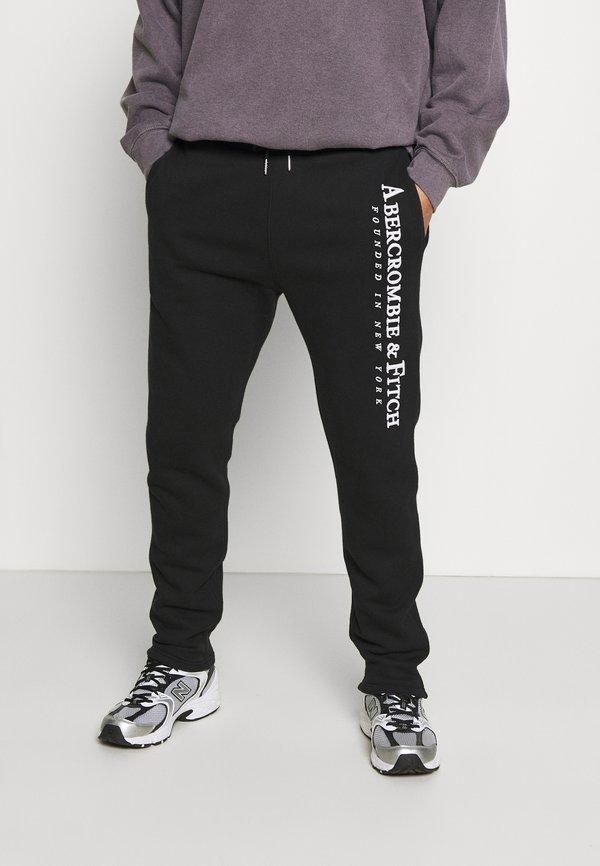 Abercrombie & Fitch TECH LOGO CLASSIC - Spodnie treningowe - black/czarny Odzież Męska RMSF