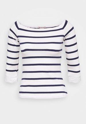 Long sleeved top - white/dark blue