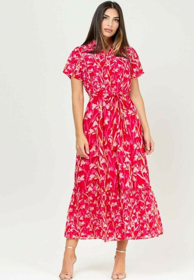 Shirt dress - fucsia