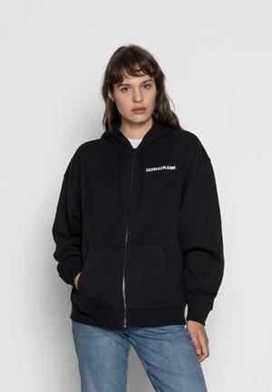 BACK INSTITUTIONAL ZIP THROUGH - Zip-up sweatshirt - black
