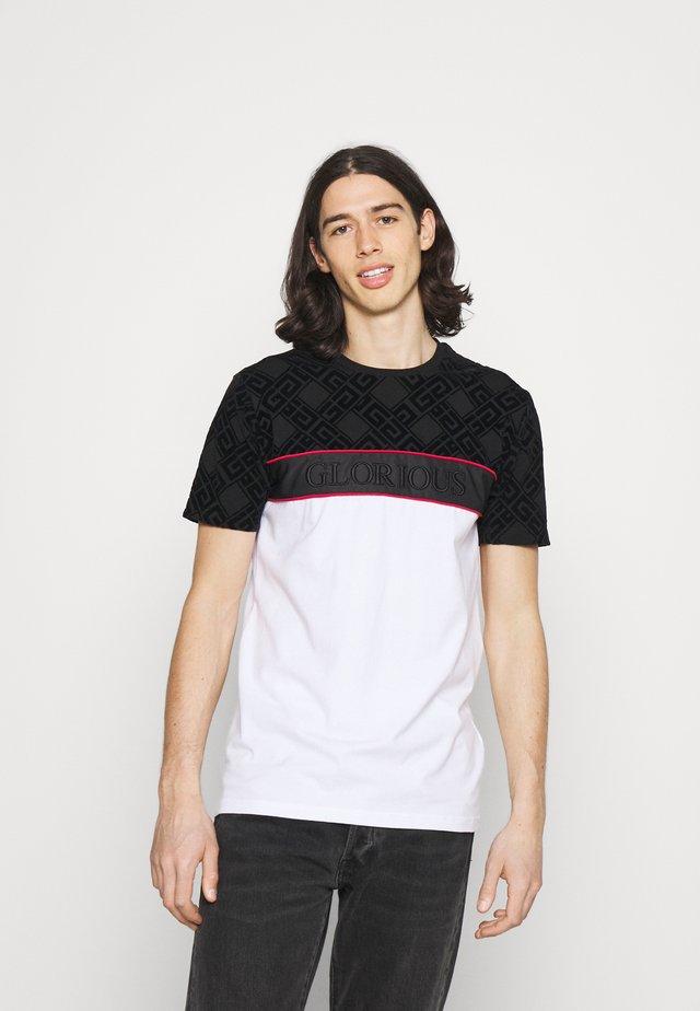 VARTAN TEE - T-shirt print - optic white