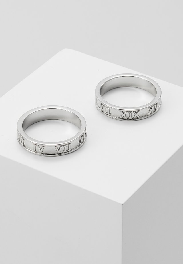 2 PACK - Anillo - silver-coloured
