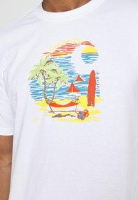 Carhartt WIP - BEACH - Print T-shirt - white - 5