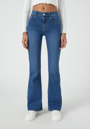 Jean bootcut - mottled blue