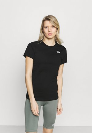 SIMPLE DOME TEE - T-shirts - black