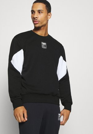 REBEL CREW SMALL LOGO - Sweatshirt - black