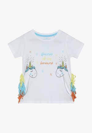 SMALL GIRLS - Print T-shirt - optical white