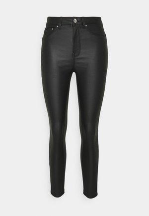 ONLPAOLA SKINNYCOATED PAN PETIT - Trousers - black