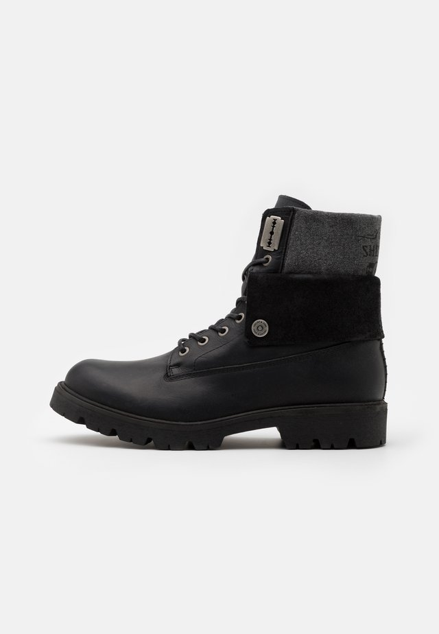 HEATH LACE UP BOOT - Veterboots - black