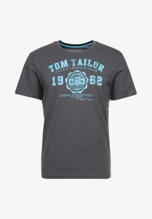 LOGO TEE - T-shirt con stampa - tarmac grey