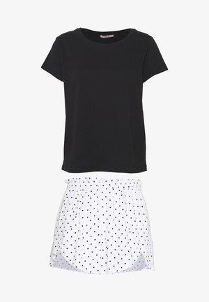 SET - Pyjama set - black/white