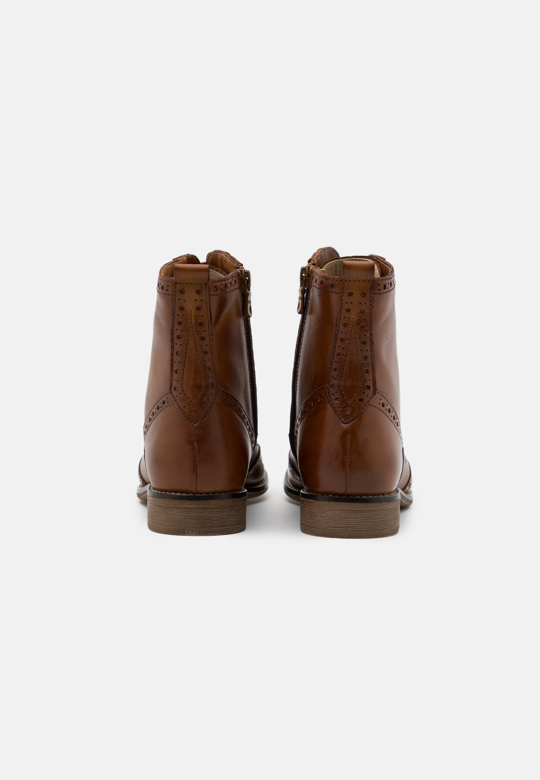 Anna Field Leather - Snørestøvletter Cognac/konjakk