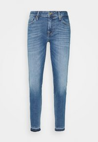 7 for all mankind - PYPER CROP ILLUSION REALITY WITH UNROLLED DIAGONAL HEM - Jeans Skinny Fit - light blue - 0