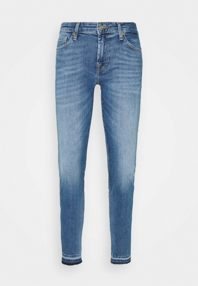 7 for all mankind - PYPER CROP ILLUSION REALITY WITH UNROLLED DIAGONAL HEM - Jeans Skinny Fit - light blue