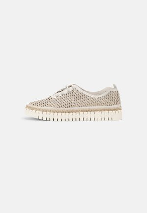LEATHER - Casual lace-ups - beige