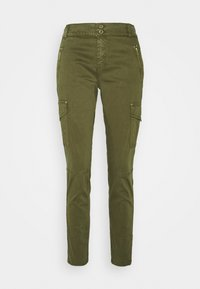 Mos Mosh - GILLES CARGO PANT - Trousers - army - 4