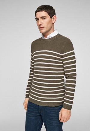 TRUI - Trui - khaki stripes