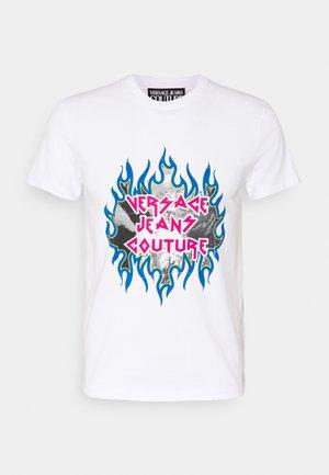 INTERLOCK LAVATO  - Print T-shirt - white