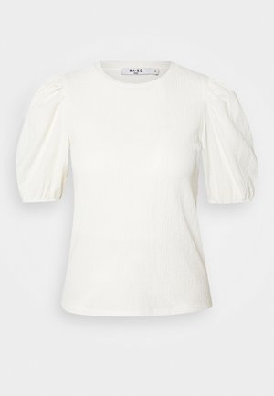 PUFF SLEEVE - Print T-shirt - off white