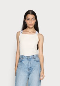 Calvin Klein Jeans - SQUARE NECK TANK - Top - muslin - 0