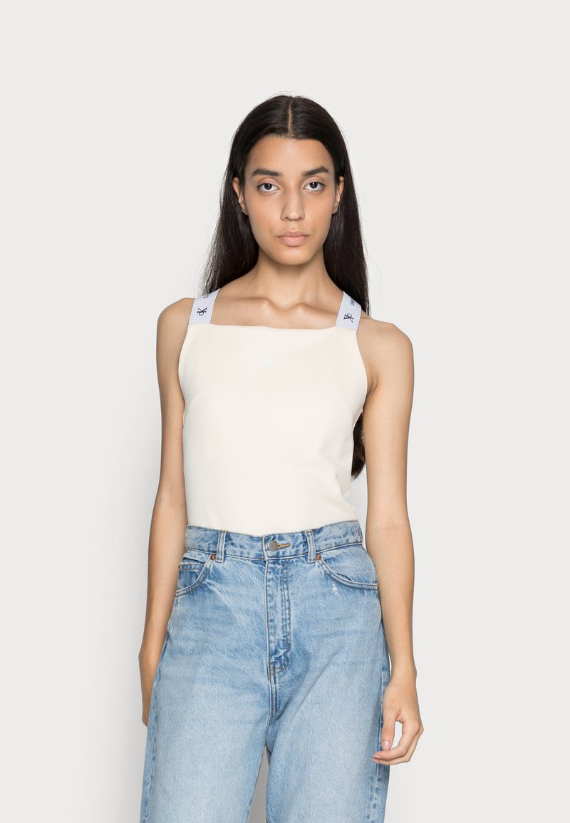 Calvin Klein Jeans - SQUARE NECK TANK - Top - muslin