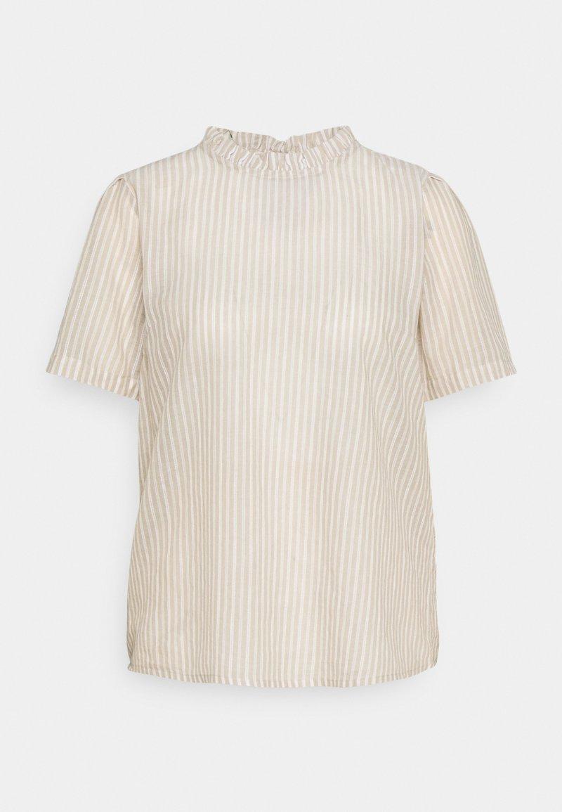 Cream - KATINKA BLOUSE - Print T-shirt - travertine/chalk