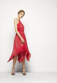 MICHAEL Michael Kors - PLEATD HALTR - Cocktail dress / Party dress - crimson - 1