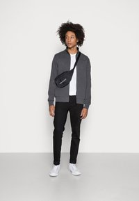 Calvin Klein - TEXTURE BLOCK ZIP JACKET - Mikina na zip - dark grey heather - 1