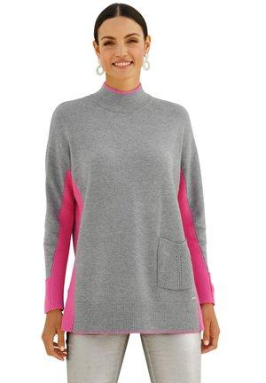 Jumper - grau pink