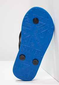 Quiksilver - JAVA WORDMARK - Varvassandaalit - black/blue - 5