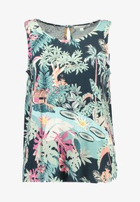 TOM TAILOR DENIM - PRINTED - Topper - colorful tropical green - 3