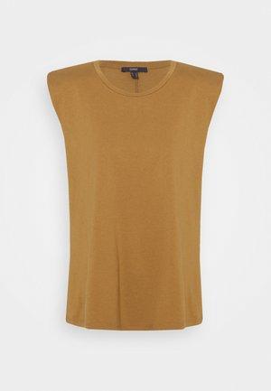 PADDED TEE - Basic T-shirt - bark