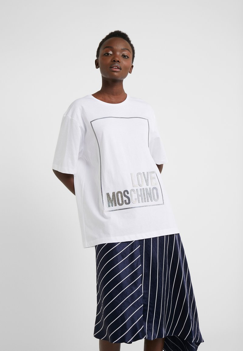 Love Moschino - Printtipaita - optical white