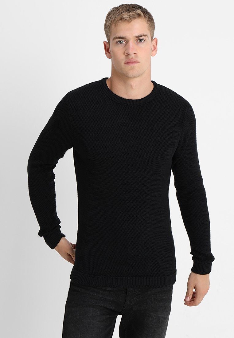 Selected Homme - SLHVICTOR CREW NECK - Stickad tröja - black