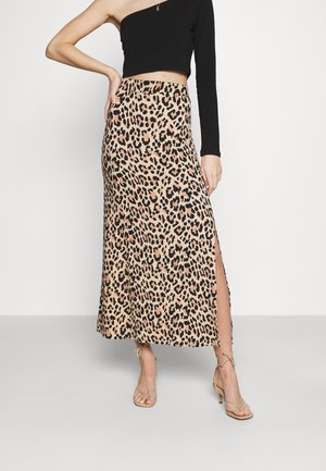 VISUN SKIRT - Falda larga - tigers eye