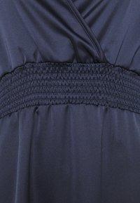 Dorothy Perkins - WRAP SHEERED WAIST MIDI DRESS - Cocktail dress / Party dress - navy - 2