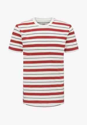 STRIPE TEE - Print T-shirt - red ochre